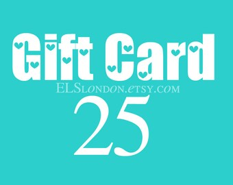 Gift certificate, Gift card, instant download gift card, voucher gift,  gift for best friend, last minute birthday gift for her