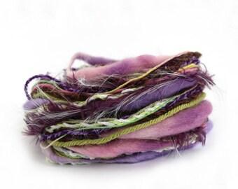 Mixed fibers, Creative Yarn Variety Pack, Sweet Pea, 30 metres, lilac purple pink green, inspiration craft supplies, textile arts dolls hair