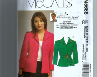 McCall's  Misses' Jacket Pattern 5668
