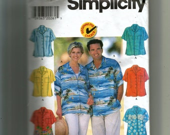 Simplicity Misses'  and Men's Shirt Pattern 7613