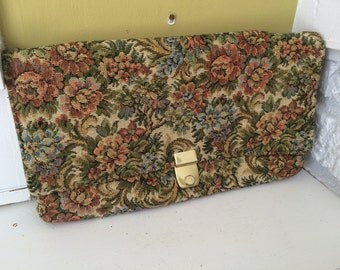 Tapestry Envelope Clutch Purse / Evening Bag