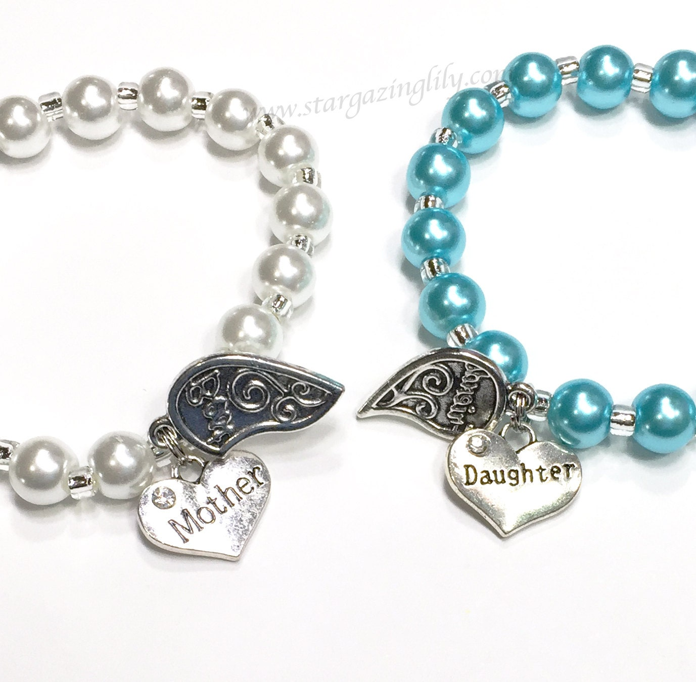 Mothers Charm Bracelet: Mother Daughter Bracelet Set. Best Friend Charm Bracelet Set