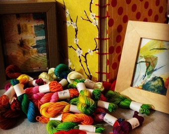 Hand Dyed Embroidery Floss Grab Bag - 1 skein