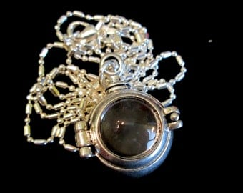 Steampunk Memories - Unisex Locket Necklace Silver