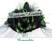 "Custom Listing ""Esmeralda"" Glam Mini Witch Hat for Hesumo Only"