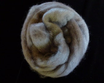 Corry X Hand Dyed Top for Felting Needle Felting Spinning Grey One Ounce