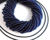 Montana Blue Seed Beads, 11/0, 2.1mm, FULL Hank, Clear Blue Czech Seed Beads, Transparent Blue Czech Glass Beads, Blue Seedbeads SB142