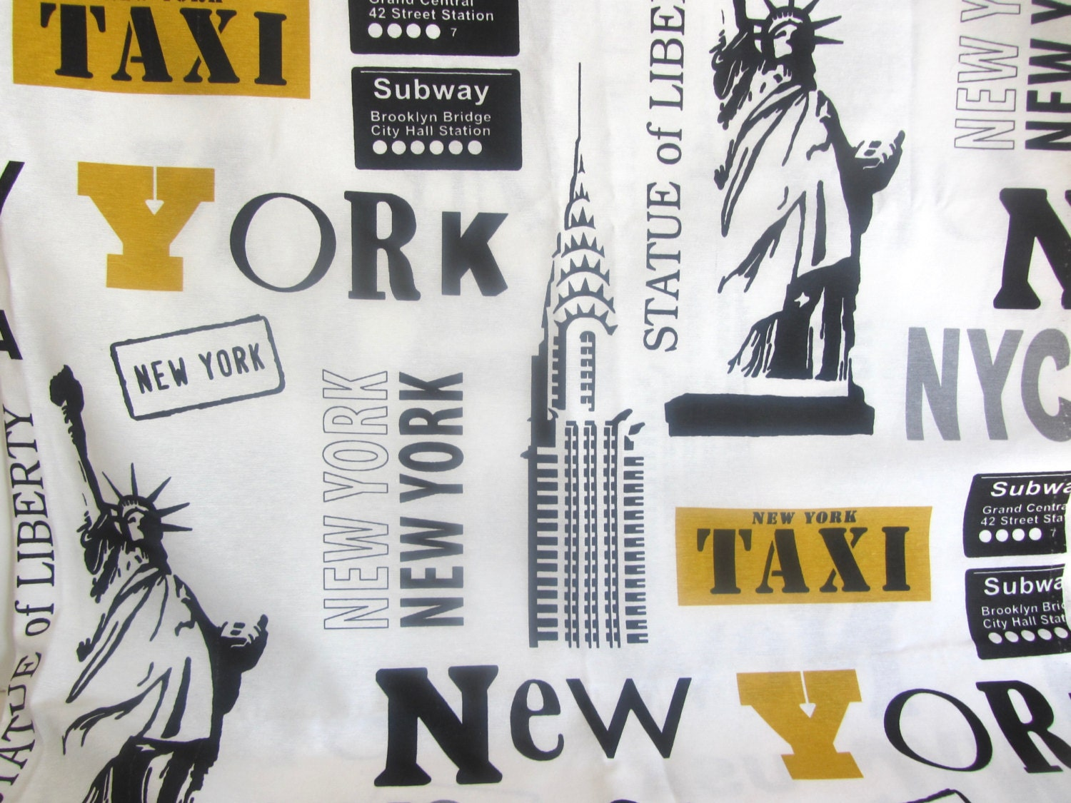 Fabric New York City Home Decorator Or Tote