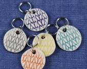 Round Porcelain Stitchmarkers Set of 5 Candy  Colors