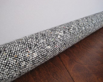 WOOL door draft guard  / speckled wool fabric draft stopper cover