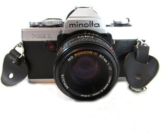Minolta XG 1 35mm SLR Camera Vintage Old