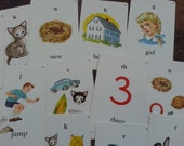 15 Vintage Flash Cards, Playing Cards. Sweet and Charming.