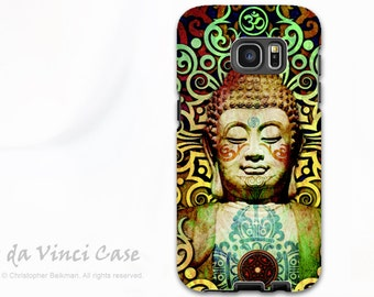 Tribal Buddha Galaxy S7 / S7 Edge Case - Dual Layer Two Piece Colorful Buddhist Tough Case - Heart of Transcendance