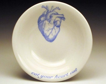 Blue anatomical heart DIPPING Bowls