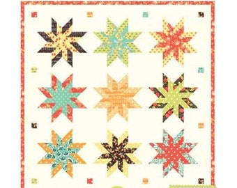 MINI Sugar Swirls quilt pattern wall hanging from Fig Tree and Co.