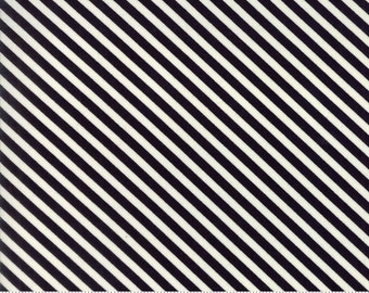 Handmade - Candy Stripe in Black: sku 55145-17 cotton quilting fabric by Bonnie and Camille for Moda Fabrics - 1 yard