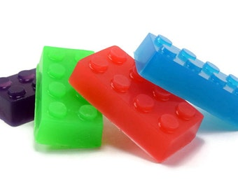 Brick Shaped Soap, Building Block Soap, Party Favor, Small Kids Soap
