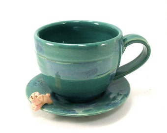 piggy cup and saucer