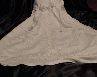 Medium White Dog Wedding Gown