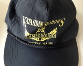 Mt. Katahdin Camping Hat Baxter Area Medway Maine Vintage Adjustable Snap Back Cap