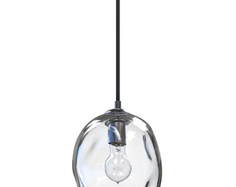 hand blown lighting. clear river rock hand blown glass pendant light lighting pendants and chandeliers