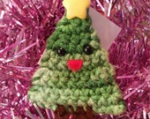 Happy Little Christmas Tree Ornament - Varigated Green
