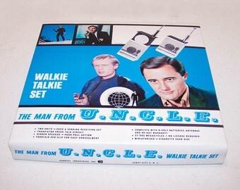 1966 Gabriel Industries Man From U.N.C.L.E. Walkie Talkie BOX REPRODUCTION