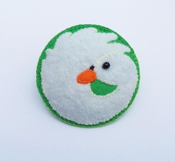 SABRINA - The White Swan Felt Brooch - British Bird - Accessory - Pin - Lovely Gift For Bird Lovers
