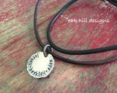 Mens personalized necklace-mens copper necklace-personalized dad necklace