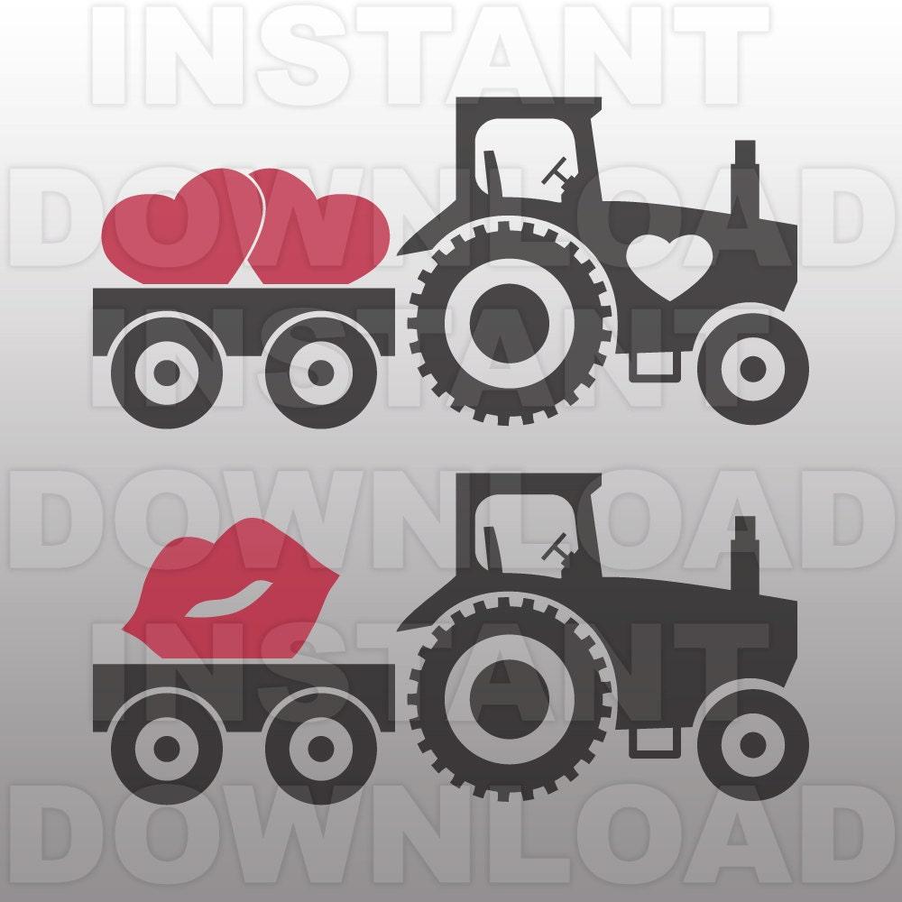 valentines svgfarm tractor svg file cutting template