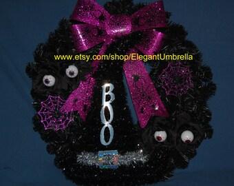 Eyeball/Spider Web/Witch Hat Halloween Wreath