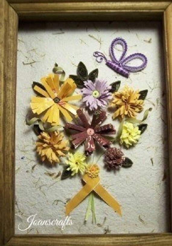 Quilling, Recycled Paper, Flowers