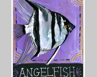 Animal Totem Print - Angelfish