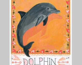 Animal Totem Print - Dolphin