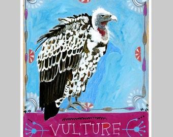 Animal Totem Print - Vulture