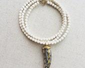 Mosaic Tusk necklace