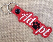 Embroidered Key Chain - Pet Adoption
