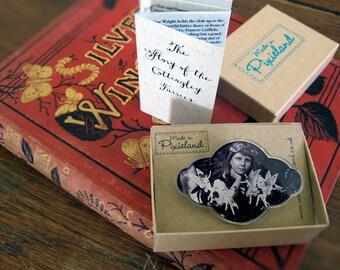 Cottingley Fairies Brooch and gift box