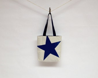 Recycled Sail Tote Bag - Blue Star