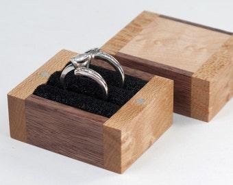 Ring Bearer Box, Wedding Ring Box, Two Ring Box