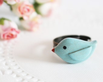 Miniature Bluebird Ring