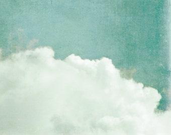 "clouds, cloud wall art, cloud photography, large art, large wall art, blue, sky, nature photography, large art print, wall art - ""Dreaming"""