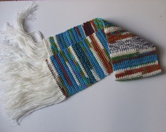 Crocheted Scarf ONLY with Fringe