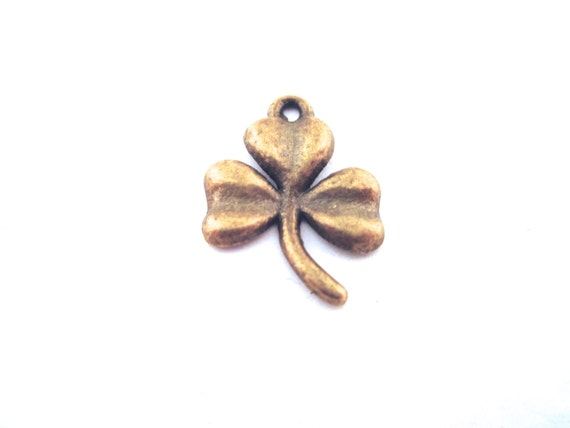 Brass Clover Charms 3 Leaf Clover Irish Charms Pick The