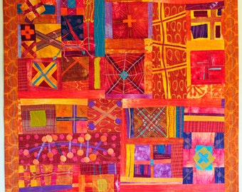 Art Quilt, Wall Quilt, Improv Quilt, Modern Quilt