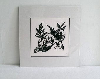 Hummingbirds - Scherenschnitte - Hand Paper Cutting Art