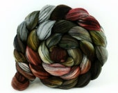 Coffeehouse - Salt and Pepper Merino Silk - Hand Dyed Fiber for Spinning