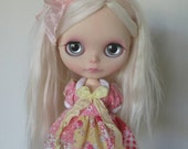 Pink Patchwork Deer Dress for Blythe & Licca
