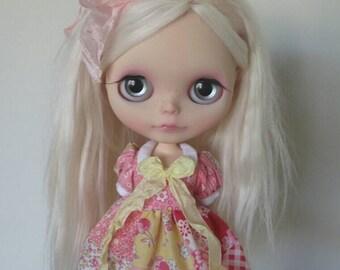Pink Patchwork Deer Dress for Blythe & Licca