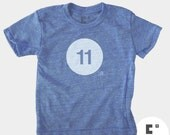 Birthday Shirt, 11th Birthday TShirt, Boys Eleventh Birthday Shirt, Eleven Birthday Number Shirt, Birthday Gift, 11th Birthday, GLOW IN DARK